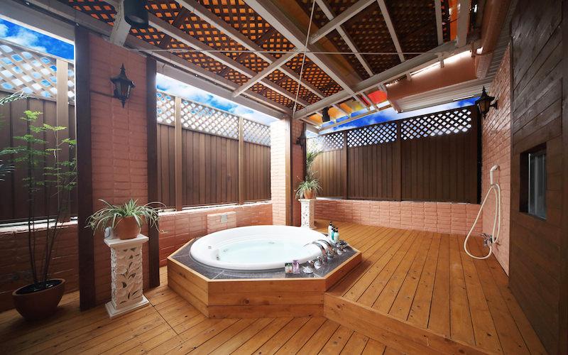 302号室露天風呂