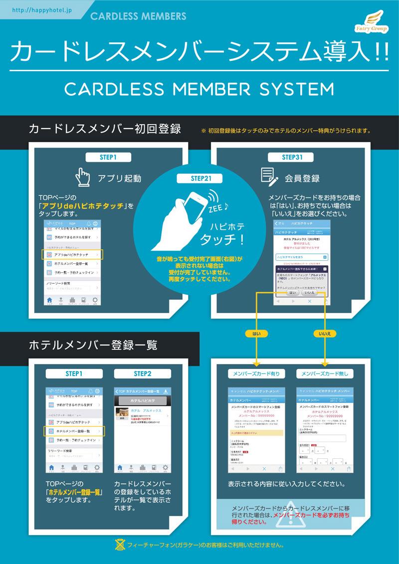 カードレスメンバーシステム導入