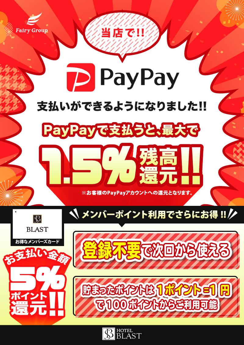 PayPayでのお支払いがご利用いただけます!!